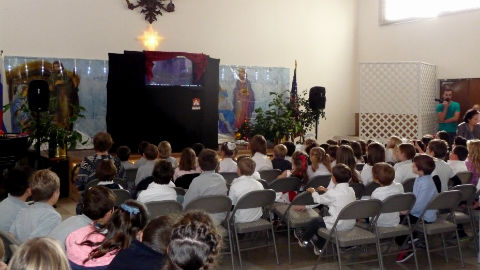 Educational Puppet Show at church