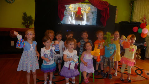 Puppet Show at daycare